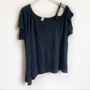 We The Free People Top Asymmetrical Gray Size L